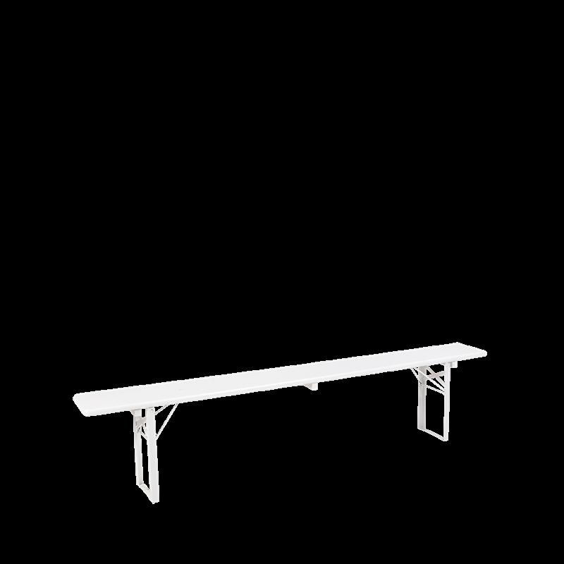 Folding Bench White H 47 W 220 D 25 cm