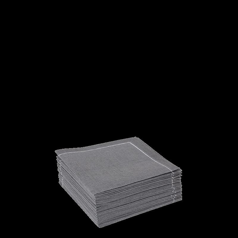 Cocktail Napkin Grey Fabric Prefolded 20 X 20 cm (Pack Of 30)