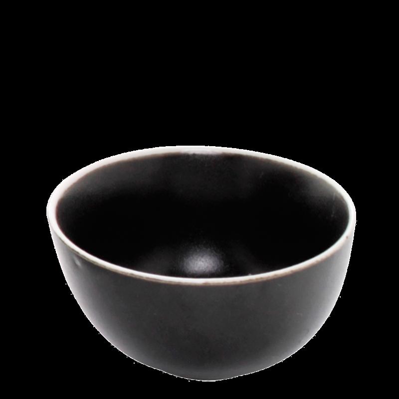 White-Rimmed Carbon Bowl Ø 12 cm H 6 cm 35 cl