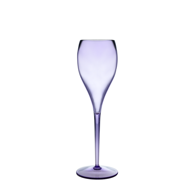 Ibiza champagne flute plum 13 cl