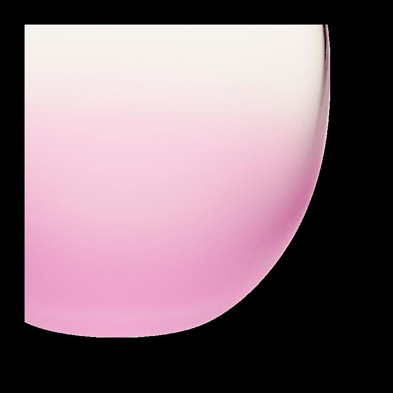 Bubble Frosted Pink Ø 6.5 cm H 6.5 cm 15 cl