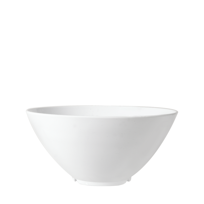 Resin Serving Bowl White Ø 28 cm H 15,5 cm 380 cl