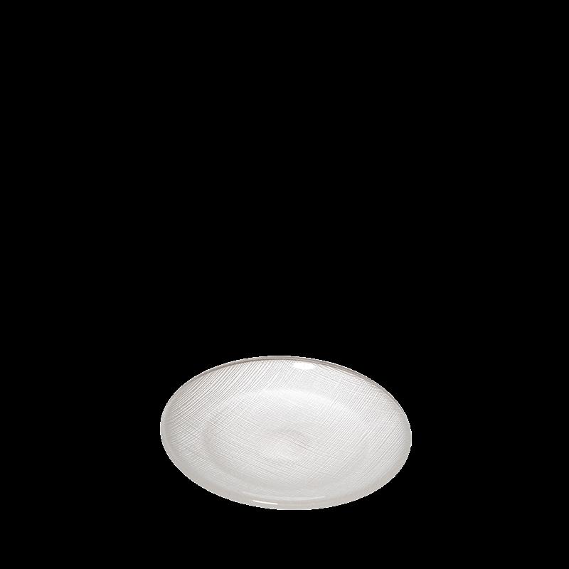 Glass Bread Plate White Ø 14 cm