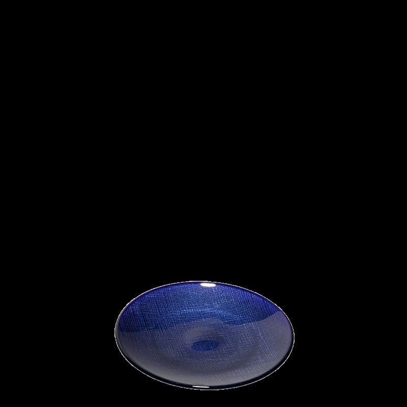 Glass Bread Plate Blue Ø 14 cm