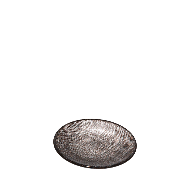 Glass Bread Plate Taupe Ø 14 cm
