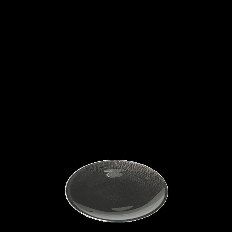 Glass Bread Plate Black Ø 14 cm