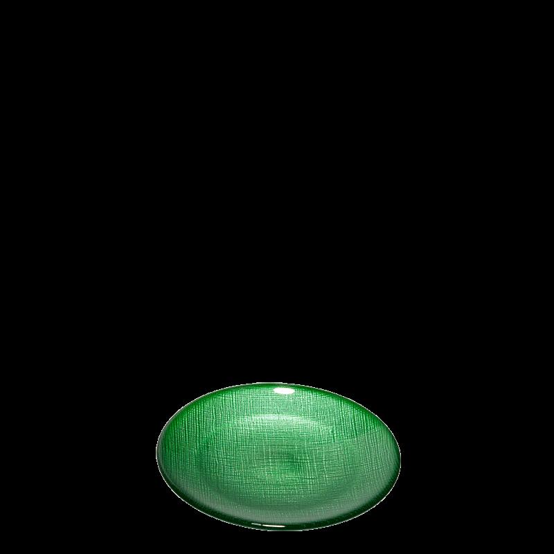 Glass Bread Plate Green Ø 14 cm