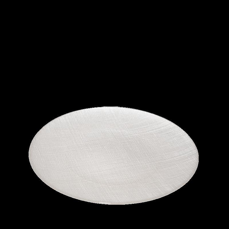 Glass Presentation Plate White Ø 32 cm