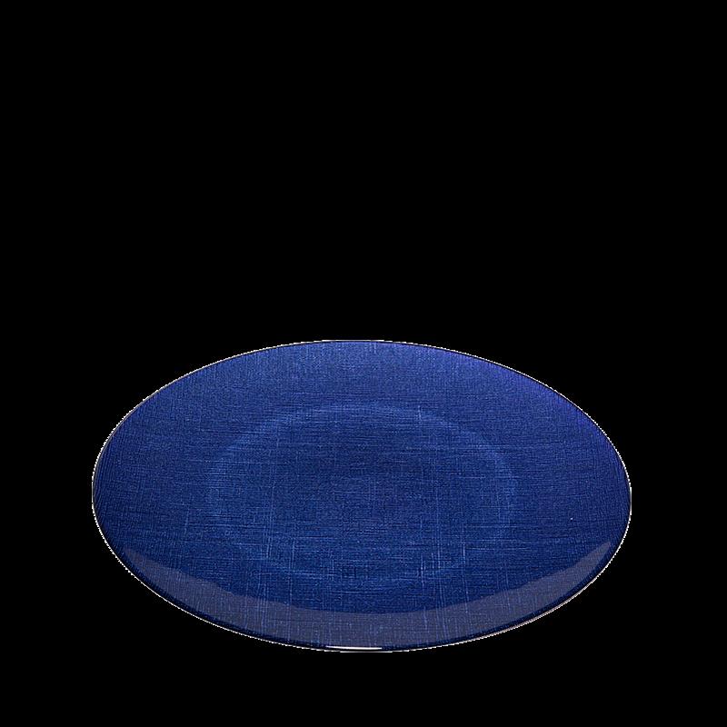 Glass Presentation Plate Blue Ø 32 cm