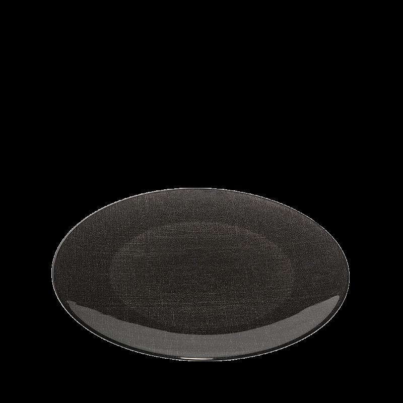 Glass Presentation Plate Black Ø 32 cm
