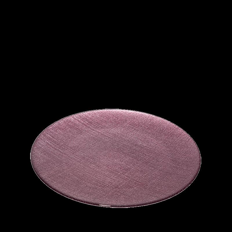 Glass Presentation Plate Plum Ø 32 cm