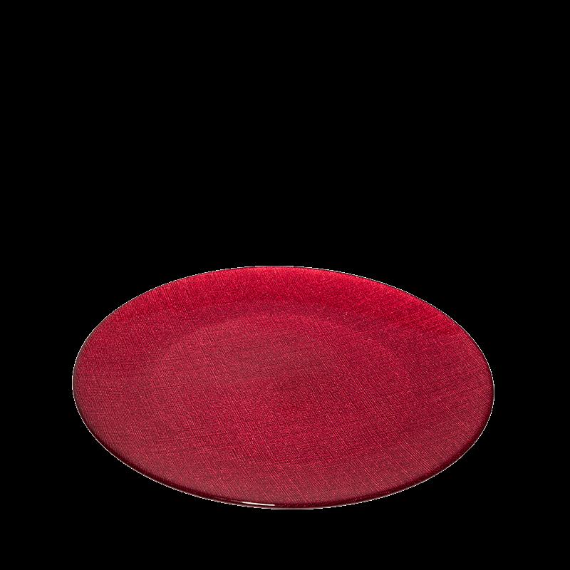 Glass Presentation Plate Red Ø 32 cm