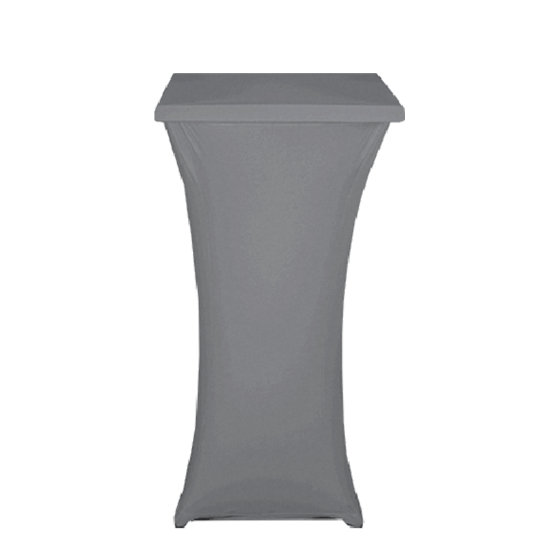 Square Steel Poseur Table with Grey Cover 60 X 60 H 111 cm