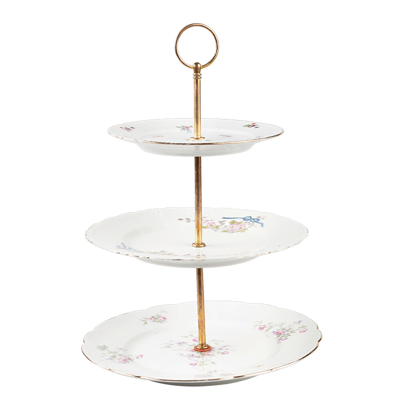 Vintage flowery Cake stand 3 tiers