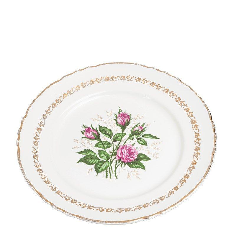 Vintage flowery big plate