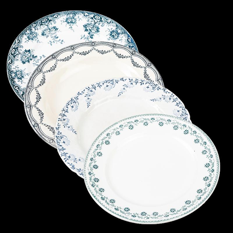 Vintage blue-green big plate