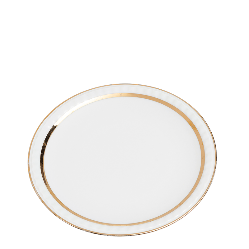 Vintage white and gold small plate