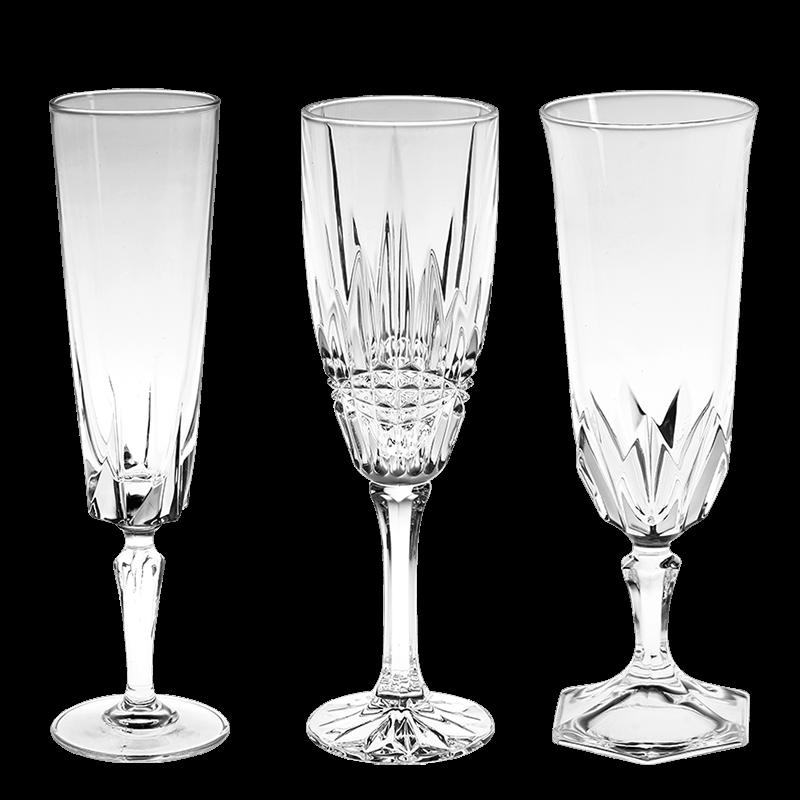 Vintage cristal champagne flute