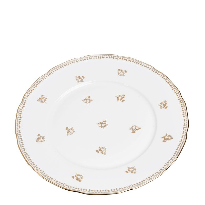 Vintage white and gold big plate