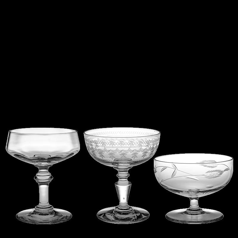 Vintage cristal champagne coupe
