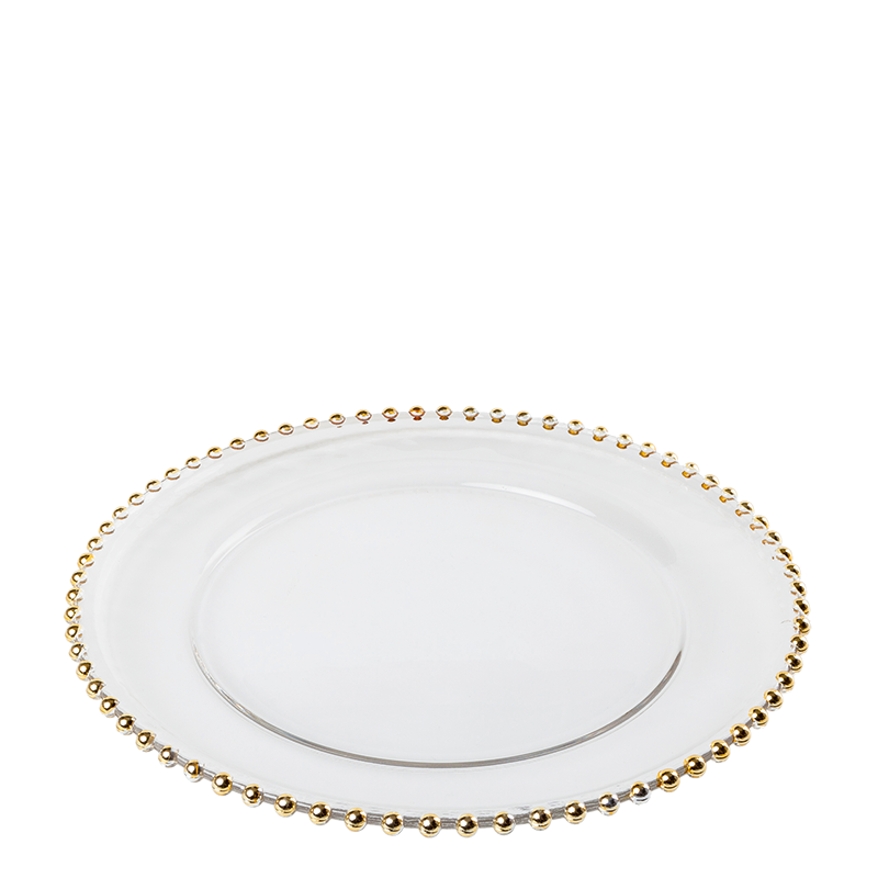 Gold Beaded Charger Plate Ø 32,5 cm