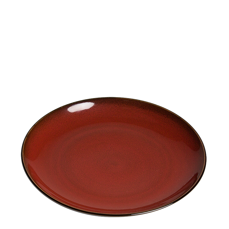 Corfu Plate Red Ø 26 cm