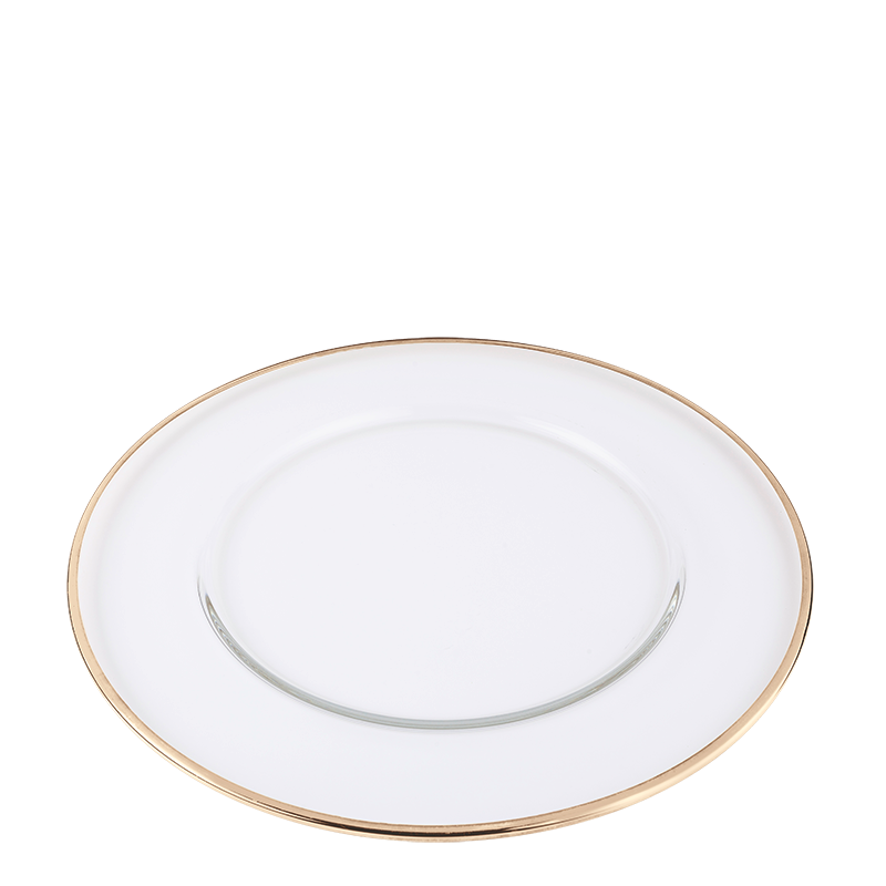 Beverly Presentation Plate with Gold Thread Ø 32 cm