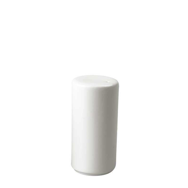 White Porcelain Pepper Cellar (Pepper Not Provided) Ø3,2 H6,2 cm