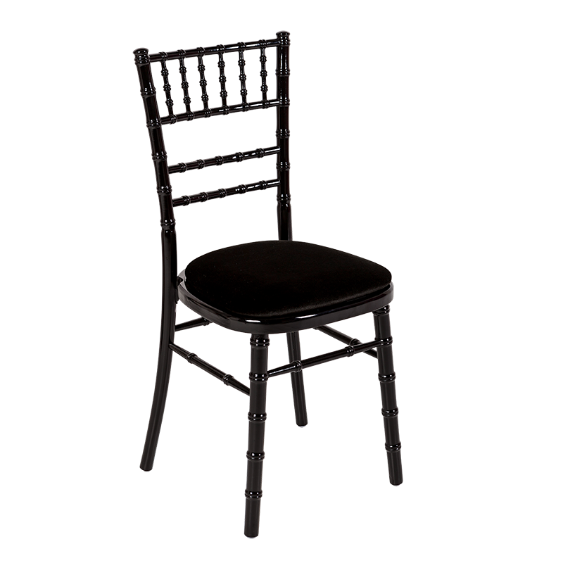 Bamboo chair in black