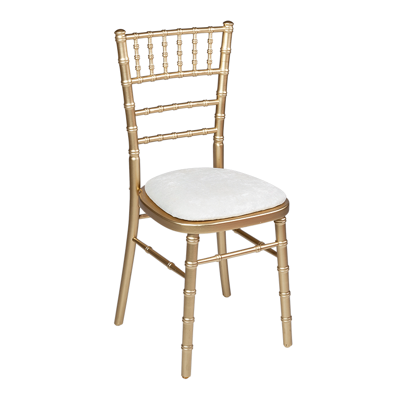 Bamboo chair in gold