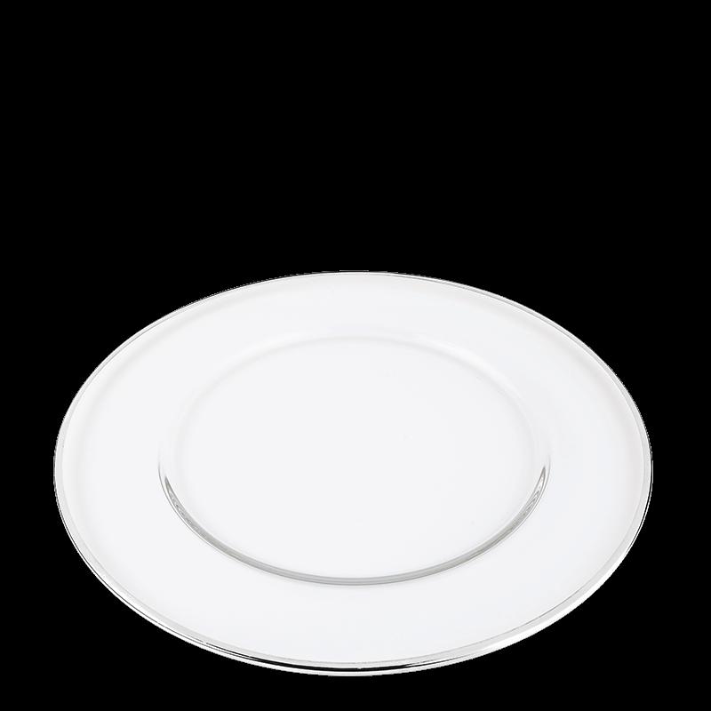 Beverly Presentation Plate with Silver Thread Ø 32 cm