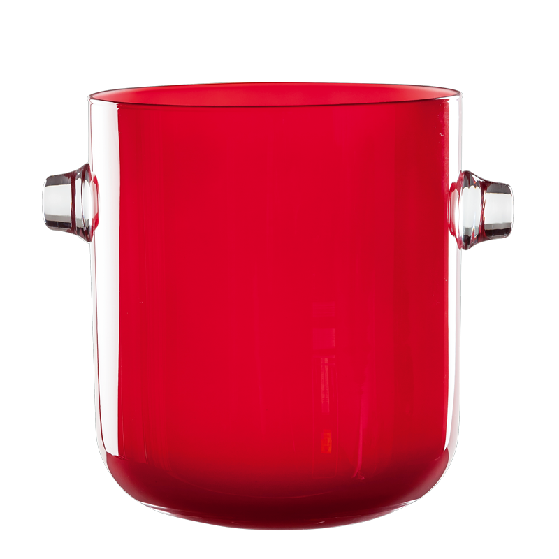 Champagne bucket red Ø 19 cm  H 21,5 cm