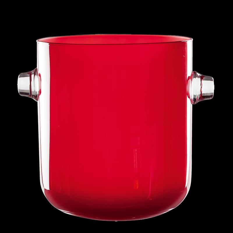 Champagne bucket red Ø 19 cm  H 21,5 cm