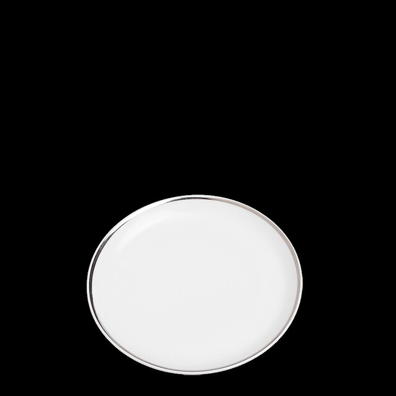 Plane bread plate with silver rim Ø 12 cm