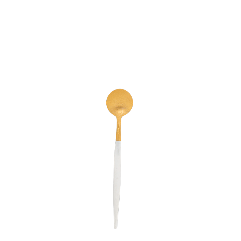 Cutipol white and gold mocha teaspoon