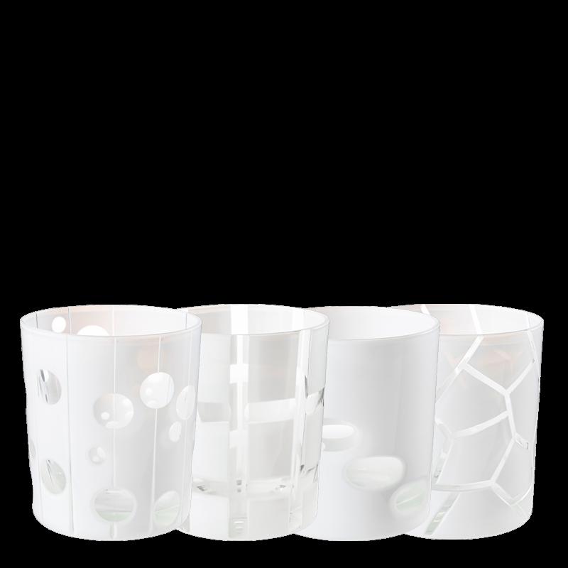 White Mélodie glass tumbler Ø 8 cm H 9 cm 24 cl