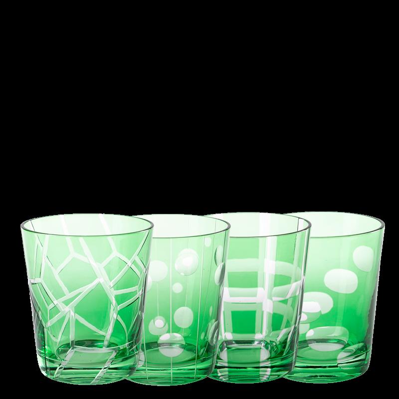 Green Mélodie glass tumbler Ø 8 cm H 9 cm 24 cl