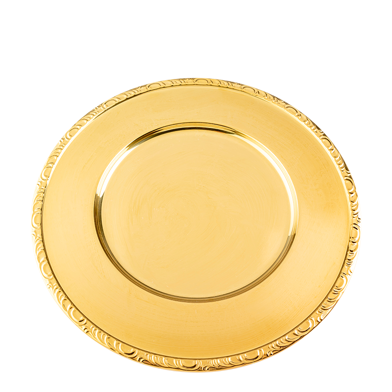 Gold charger plate Ø 33 cm