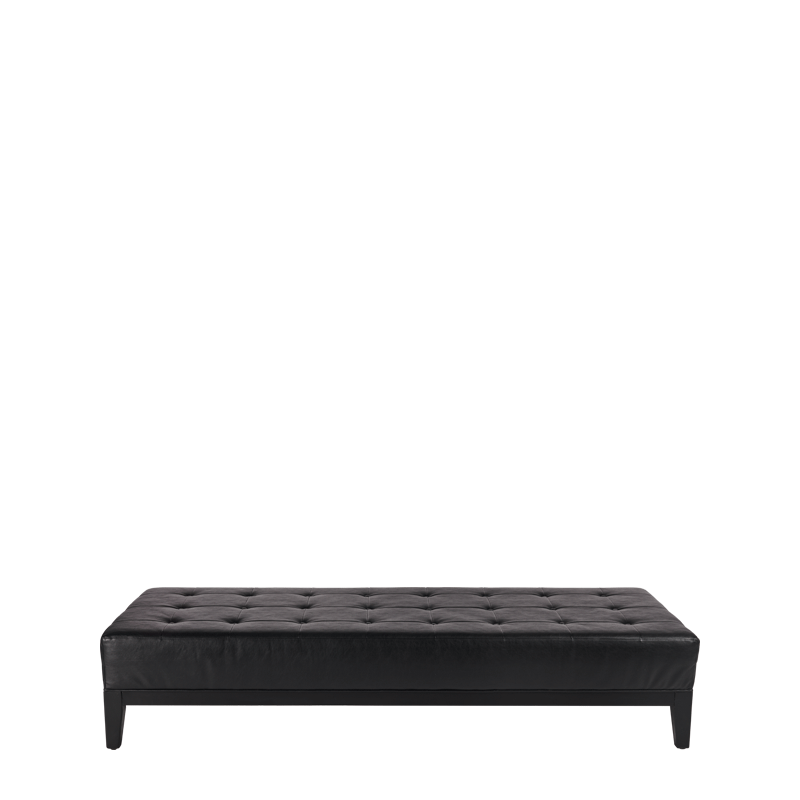 Button Ottoman in Black L 79