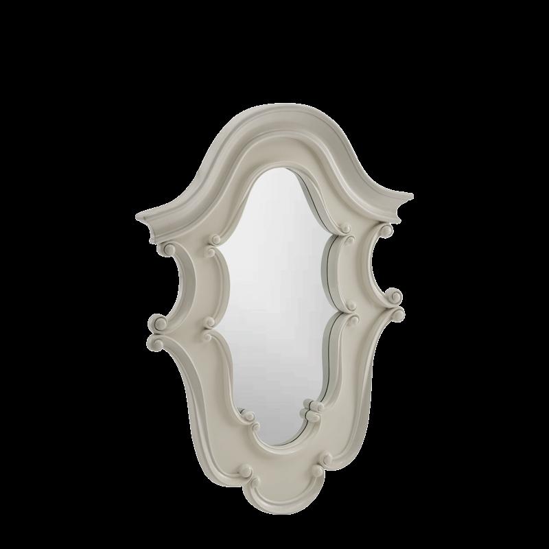 Baroque Mirror in white