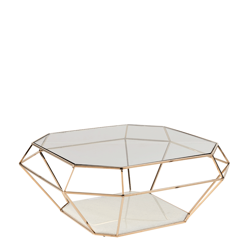 Diamond Coffee Table in Gold