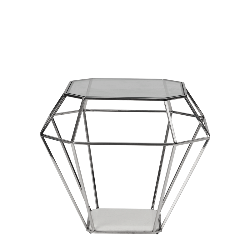 Diamond Occasional Table in Silver