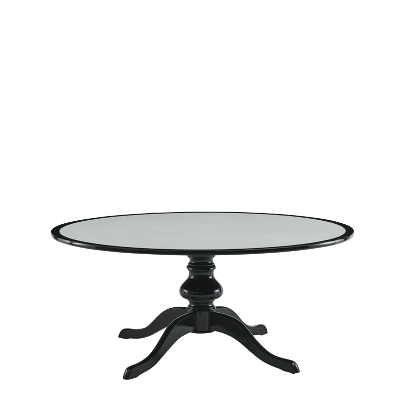Isla Dining Table 6ft in Black with White Table Top