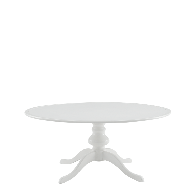 Isla Dining Table 6ft in White with White Table Top