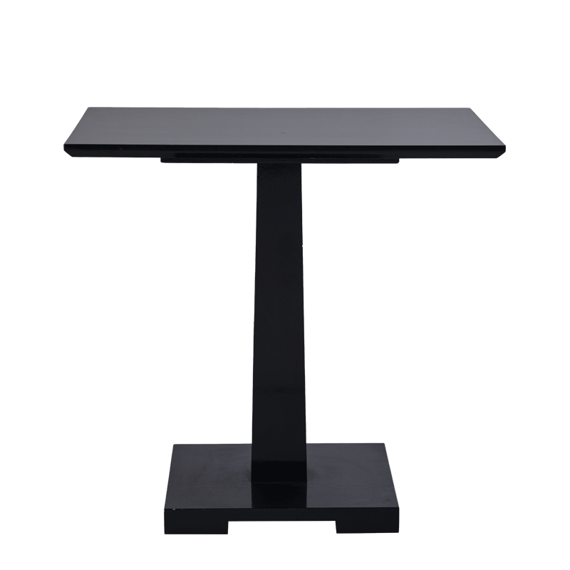 Square Bistro Café Table in Black