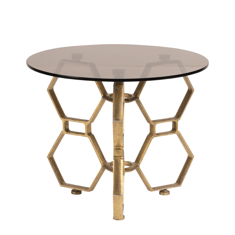 Tide Coffee Table with Bronze Crystal Top