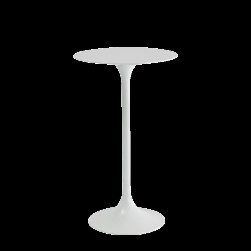 Tulip Jayne Poseur Table in White