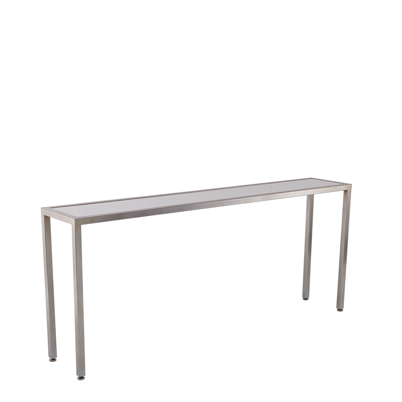 Unico Console Table with Stainless Steel Frame and White Top