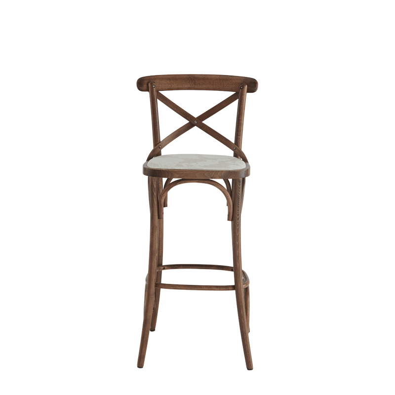 Coco Bar Stool in Natural with Vanilla Seat Pad
