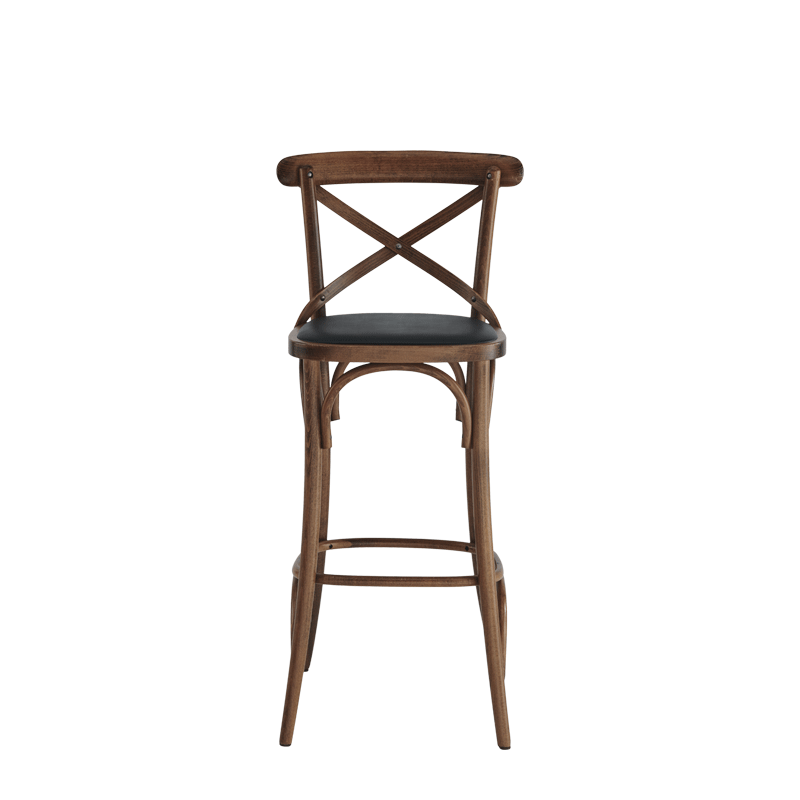 Coco Bar Stool in Natural with Black Seat Pad
